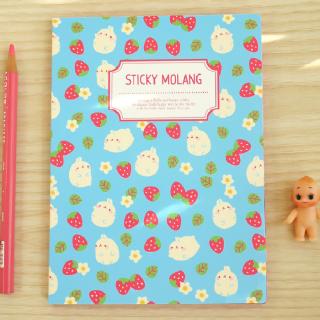 Carnet de post-it Molang Strawberry