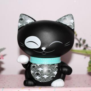 Mani The Lucky Cat - Figurine Mani Noir