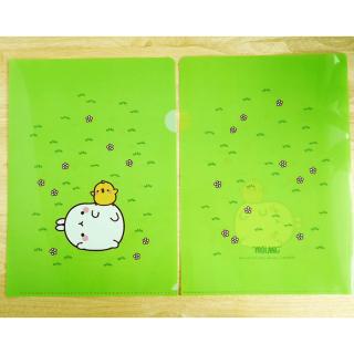 Pochette plastique verte Molang