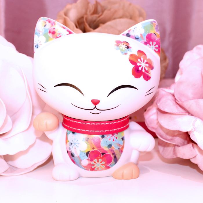 Mani The Lucky Cat - Figurine Mani Corail