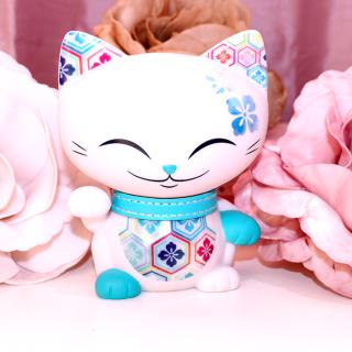 Mani The Lucky Cat - Figurine Mani Bleu Ciel