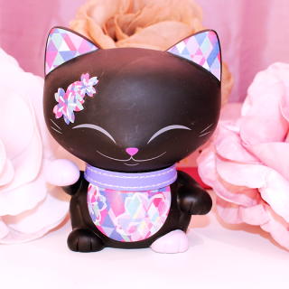 Mani The Lucky Cat - Figurine Mani Noir Violet