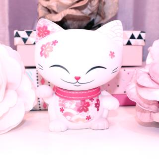 Mani The Lucky Cat - Figurine Mani Rose