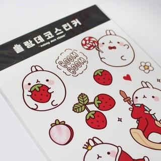 Stickers Décoratif Molang rouge