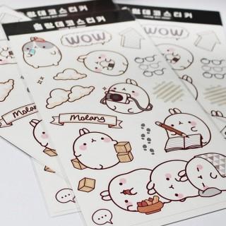 Stickers Décoratif Molang gris