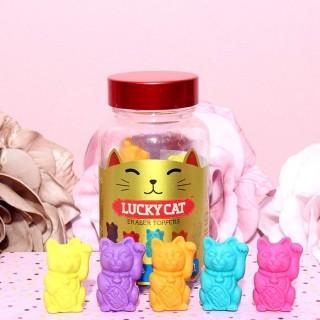 Pot de 12 Gommes Lucky Cat