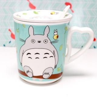 Mug Totoro bleu avec couvercle