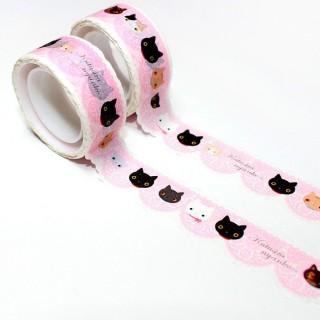 Masking Tape Kutusita Nyanko Rose