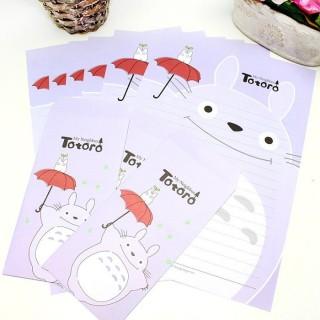 Papier à lettre Totoro Violet