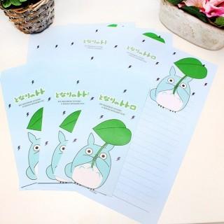 Papier à lettre Chibi Totoro Bleu