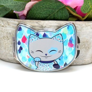 Miroir Mani The Lucky Cat Bleu