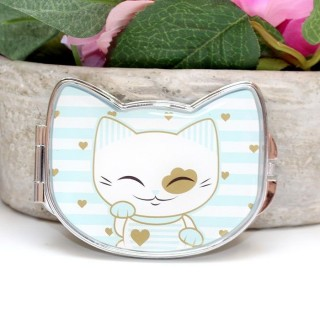 Miroir Mani The Lucky Cat Bleu clair