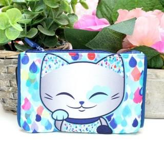 Porte Monnaie Mani The Lucky Cat Bleu Foncé