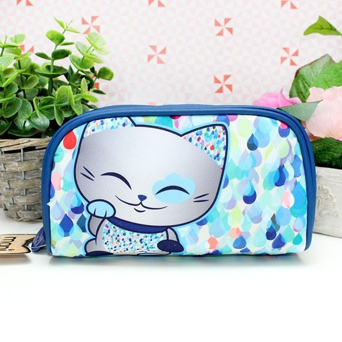 Trousse Mani The Lucky Cat Bleu foncé