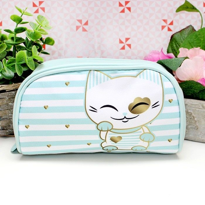 Trousse Mani The Lucky Cat Turquoise