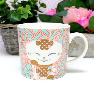 Mug Mani The Lucky Cat Corail