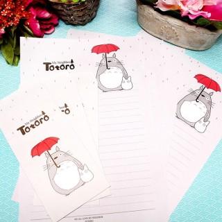 Papier à lettre Totoro Gris
