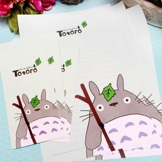 Papier à lettre Totoro Vert