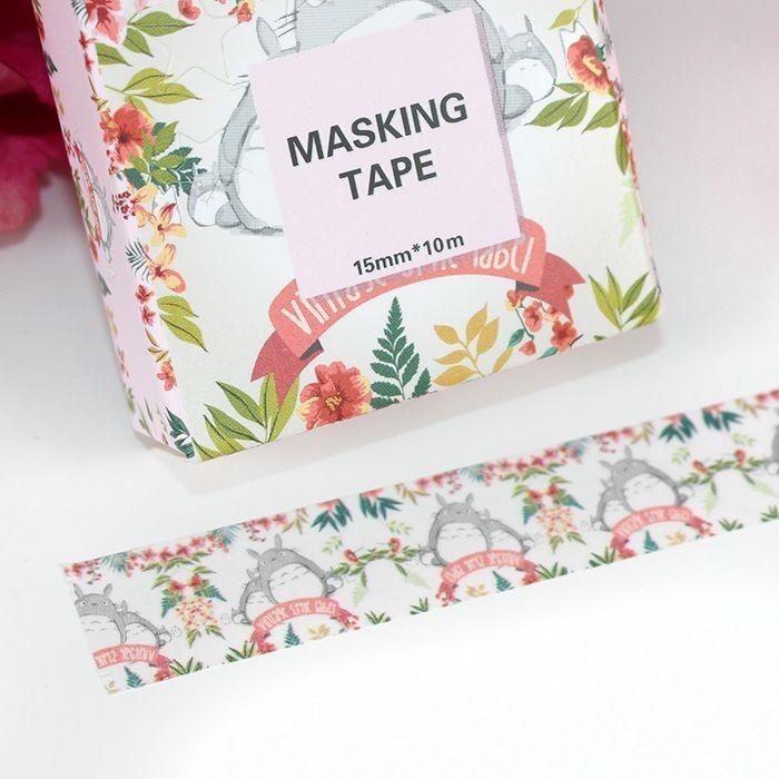 Masking Tape Totoro Vintage Flower