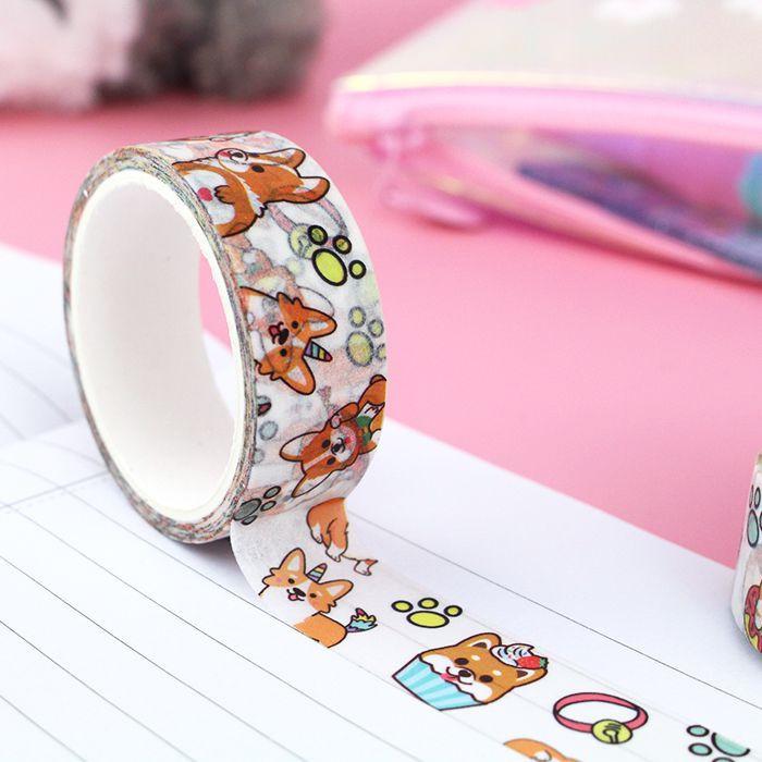 Washi Tape Corgi Malicieux / Tamtokki.com - Boutique Kawaii en France IM#10034