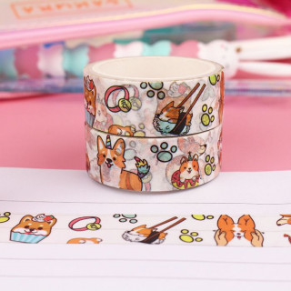 Washi Tape Corgi Malicieux / Tamtokki.com - Boutique Kawaii en France IM#10035