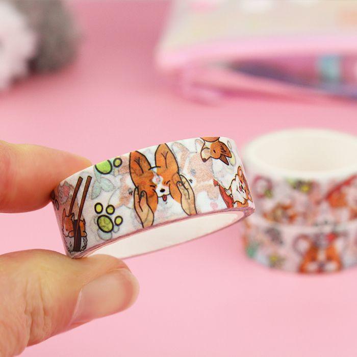 Washi Tape Corgi Malicieux / Tamtokki.com - Boutique Kawaii en France IM#10038