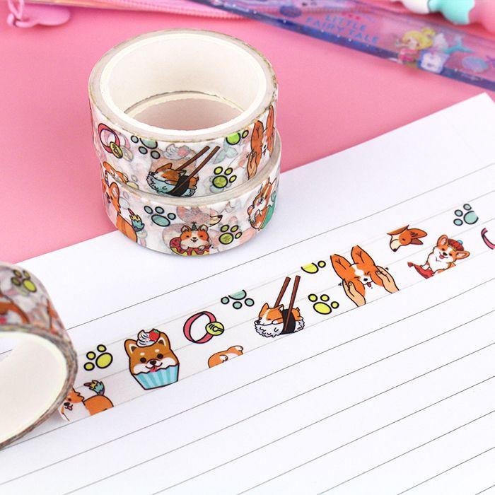 Washi Tape Corgi Malicieux / Tamtokki.com - Boutique Kawaii en France IM#10041