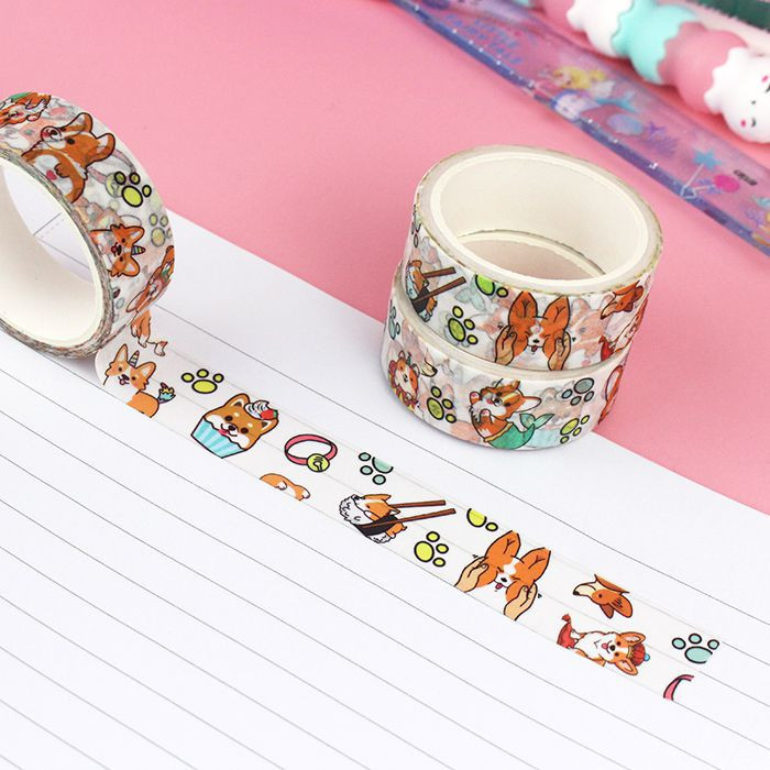 Washi Tape Corgi Malicieux / Tamtokki.com - Boutique Kawaii en France IM#10042