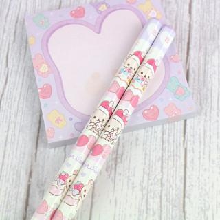 Crayon à Papier San-X - Korilakkuma Strawberry Violet B  sur Tamtokki Boutique Kawaii