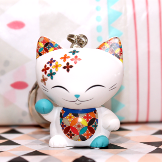 Mani The Lucky Cat - Porte Clés Mani 006