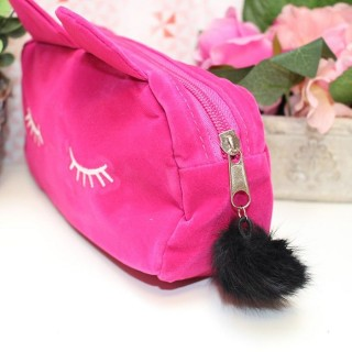 Pochette de maquillage Chat Rose
