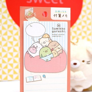 Post-it pliable Sumikko Gurashi rouge