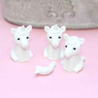 Gomme Iwako White Unicorn