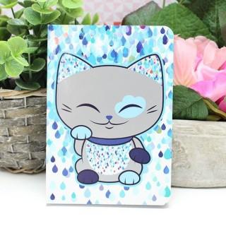 Carnet Mani The Lucky Cat Bleu foncé