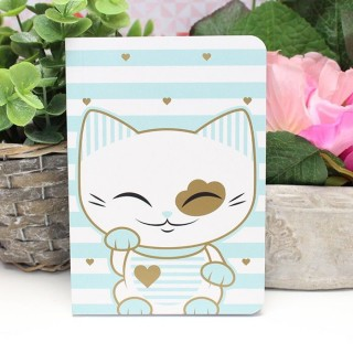 Carnet Mani The Lucky Cat Bleu clair