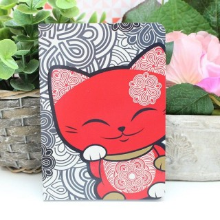 Carnet Mani The Lucky Cat Rouge