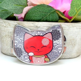 Miroir Mani The Lucky Cat Rouge