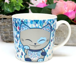 Mug Mani The Lucky Cat Bleu