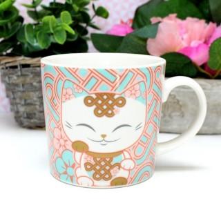 Mug Mani The Lucky Cat Corail