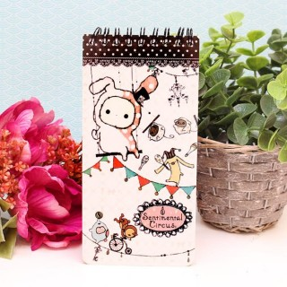 Carnet de Note Sentimental Circus rose pâle