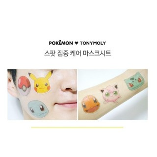 TONY MOLY X POKEMON Masque Sticker Pikachu