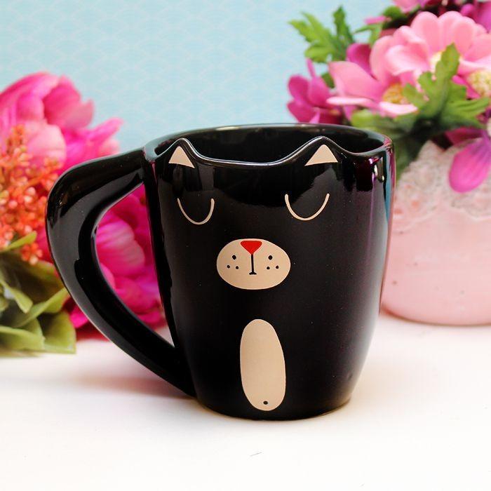 Mug  Chat dormant (noir)