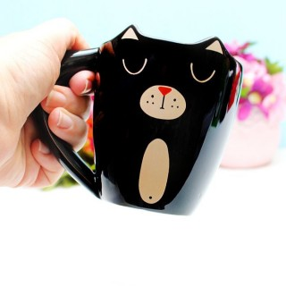 Mug  Chat dormant (noir)