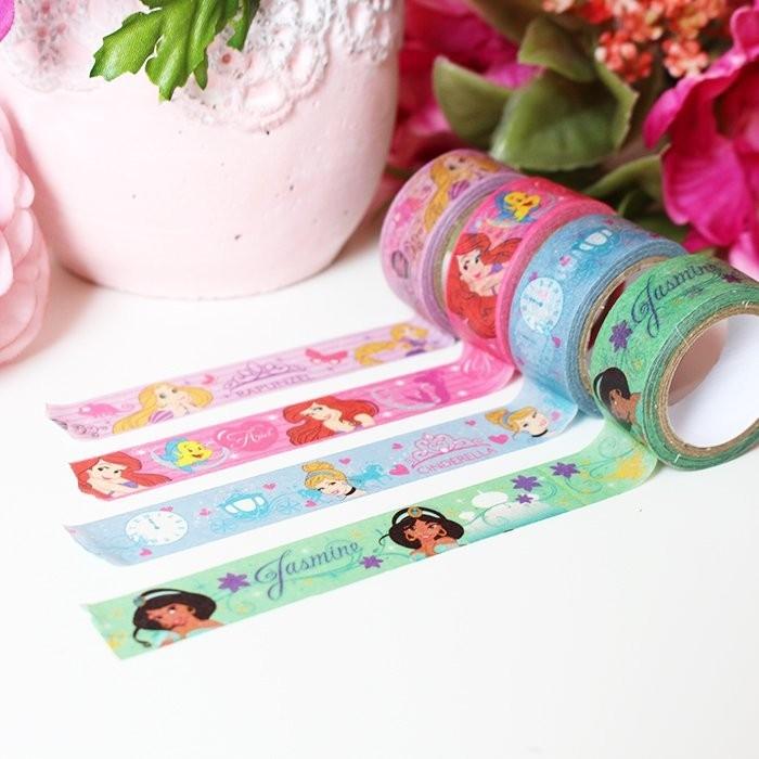 Lot de 4 Masking tape Princesses Disney
