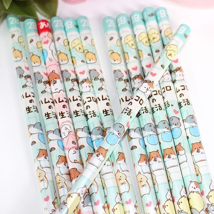 Boîte 12 Crayons de Papier Hamukuro Life de Kamio