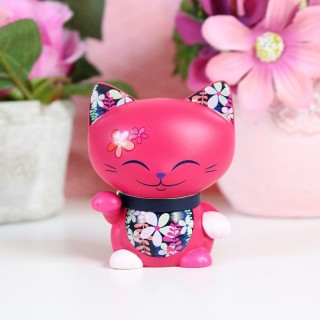 Figurine Mani The Lucky Cat Rose foncé 7cm