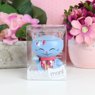 Figurine Mani The Lucky Cat Bleu 7cm