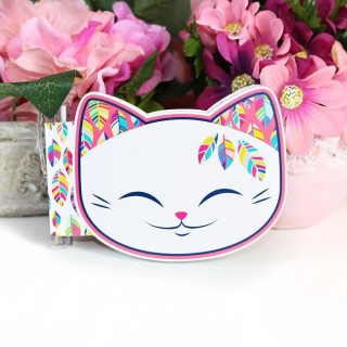 Carnet avec Stylo Mani The Lucky Cat Plume