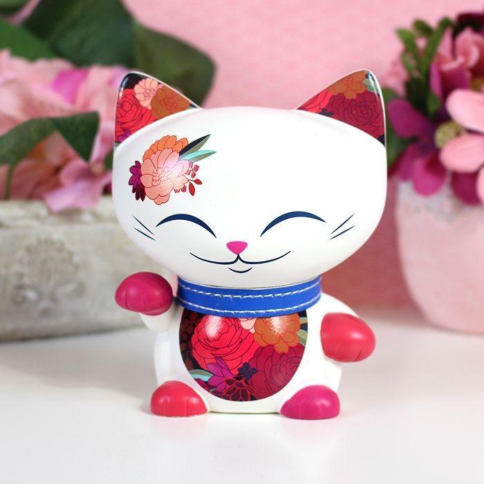 Mani the Lucky Cat Fleur d'automne 11cm