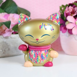 Mani The Lucky Cat Plume d'or 11 cm